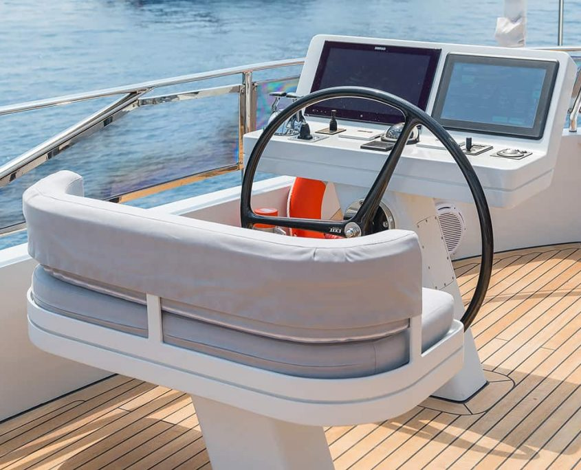 ALL ABOUT YOU Captains place on flybridge