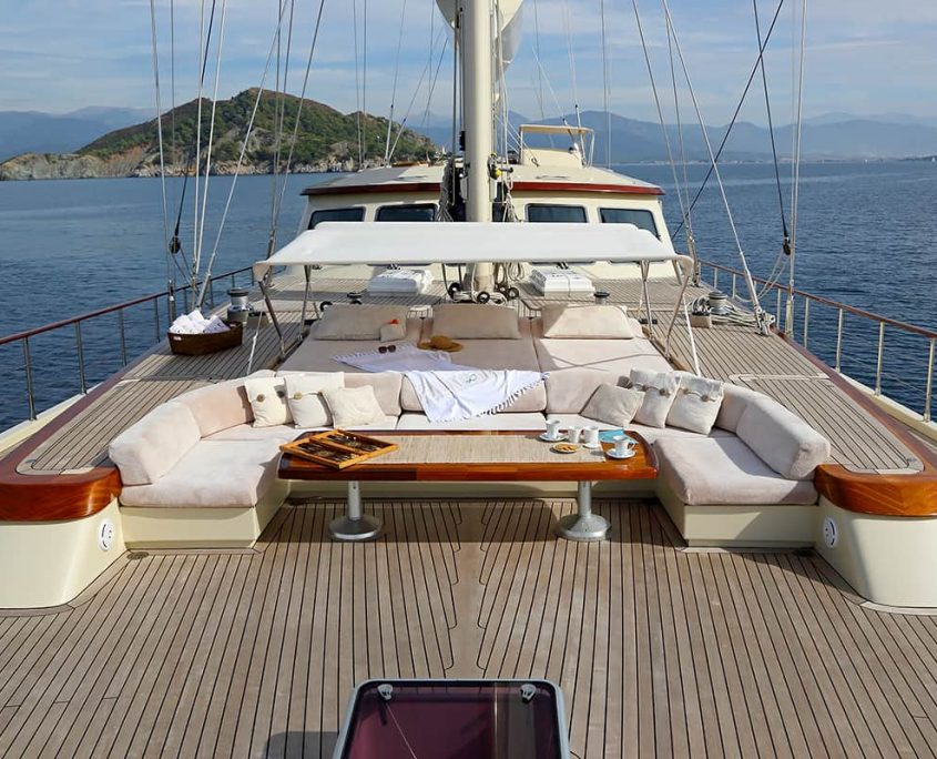 DAIMA Sitting area on Aft deck