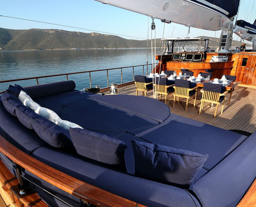Relax Area on Aft Deck