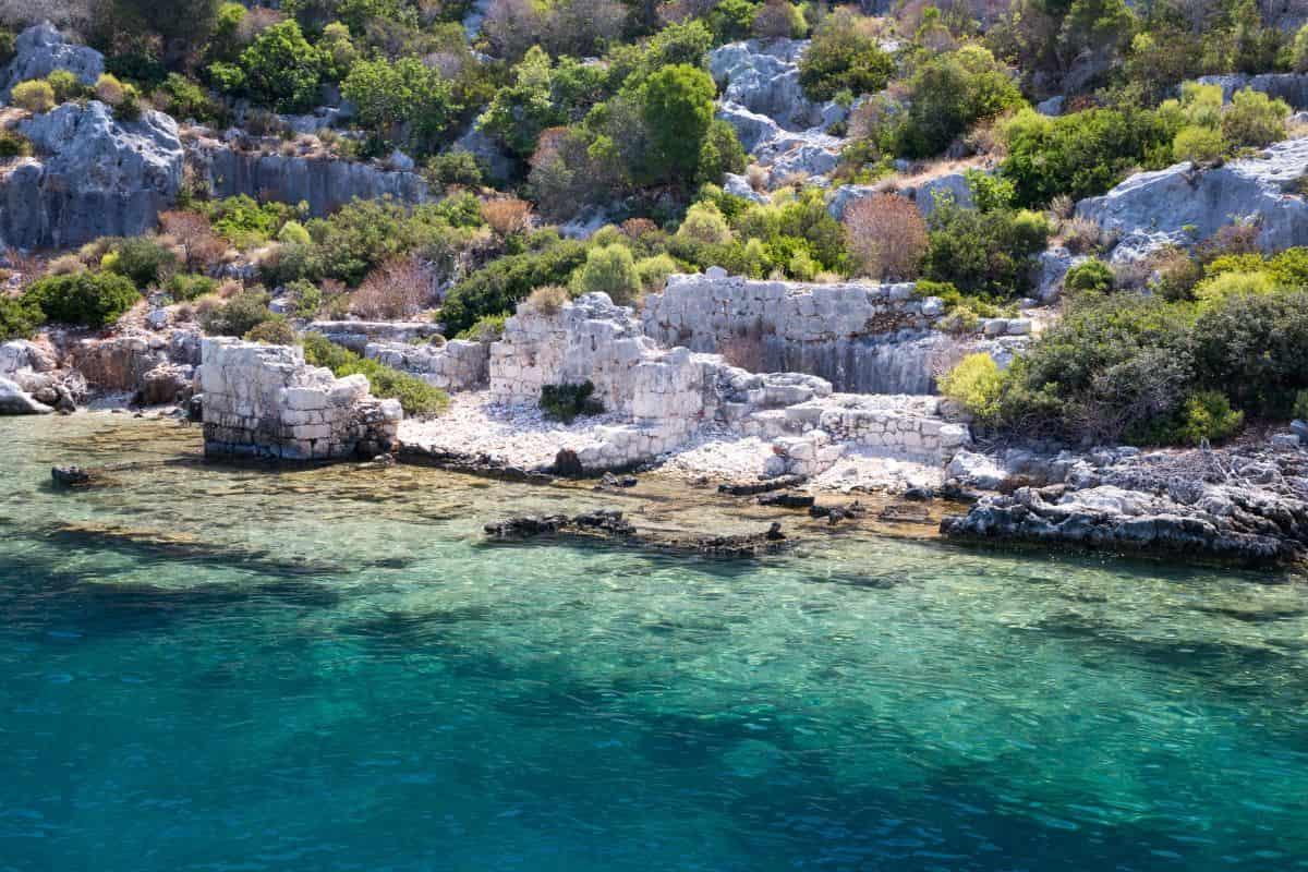 Sunken City Kekova, Antalya, Turkey-min